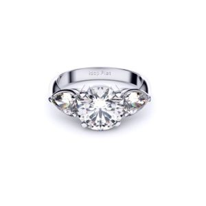 Adelaide diamond engagement ring three stone with side pears