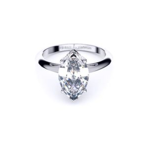 Adelaide Diamond company 4 claw emerald cut solitaire engagement radiant solitaire ring front page view