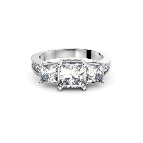 Adelaide diamond company three stone princess cut antique style hand front page 512