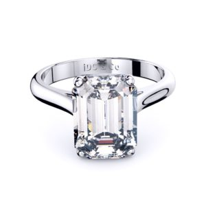 Adelaide Diamond company 4 claw emerald cut solitaire engagement ring front