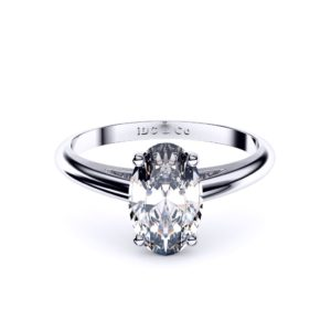 Adelaide diamond engagement ring oval front