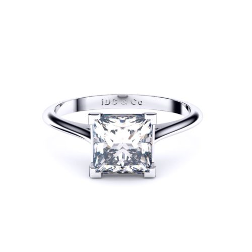 Princess cut solitaire Adelaide engagement ring