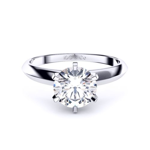Adelaide diamond engagement ring round classic with 6 claws