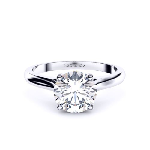 Adelaide diamond engagement ring round with four claws