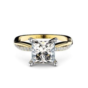 Adelaide diamond engagement ring round with round diamond band