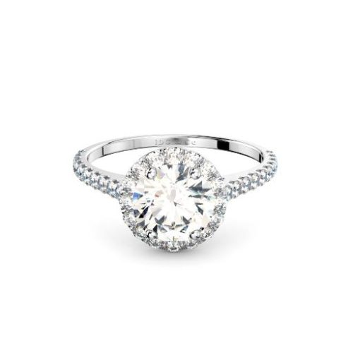 Adelaide diamonds halo engagement ring in white gold