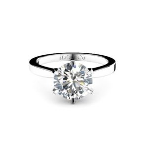 Adelaide diamond engagement ring round with tapered band